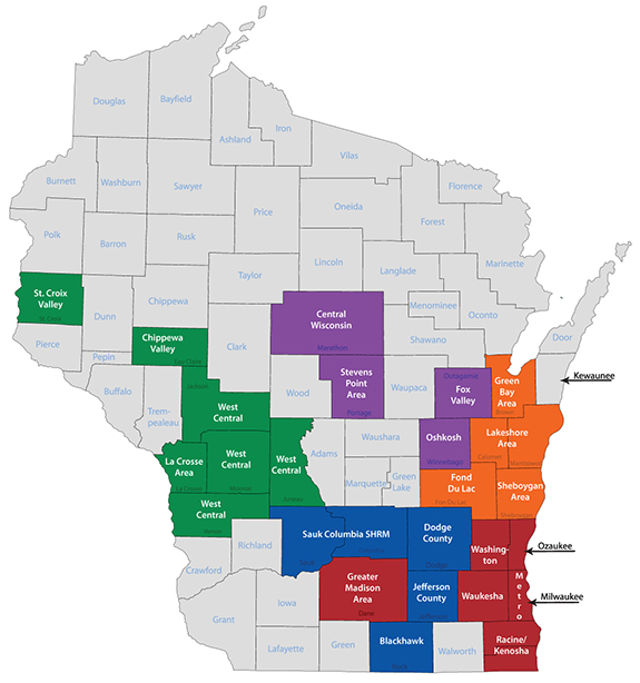 WI SHRM District Map